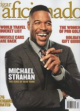 Michael strahan cigar aficionado cover