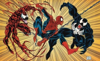 Spider-Man-vs-Venom-and-Carnage-marvel comics photo