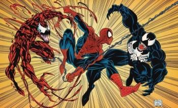 Spider-Man-vs-Venom-and-Carnage-marvel comics photo