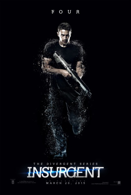 Theo James as Four Insurgent motion poster