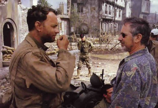 saving_private_ryan_set photo tom_hanks_spielberg