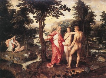 Garden of Eden by Jacob de Backer  16th century painting