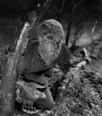 "Lon Chaney Jr in ""Frakenstein Meets the Wolf Man"""