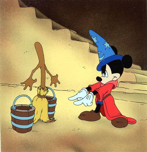 Mickey Mouse in Fantasia The Scorcerer's Apprentice