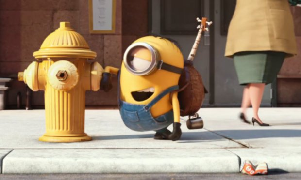 Minions photo fire hydrant