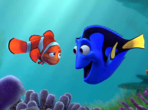 Albert Brooks as Nemo Ellen DeGeners Dory in Finding Nemo