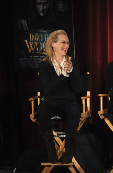"""Actress and cast member of """"Into the Woods"""" Meryl Streep takes part in a Q&A following a screening of the film at the DGA Theater. 2014 in New York City. The Q&A can be seen at Yahoo Movies and the Yahoo Screen App  (Photo by Bryan Bedder/Getty Images for Walt Disney Studios)"""