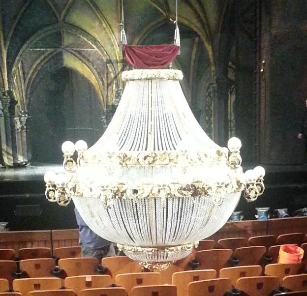 "The chandelier from ""The Phantom of the Opera"" at the Straz Center photo/Brandon Jones"