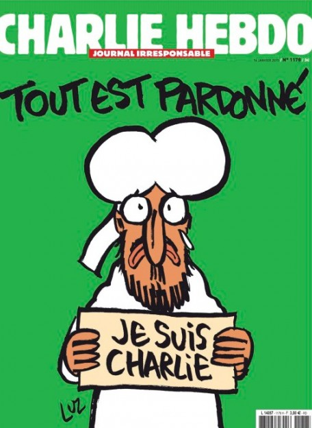 Charlie Hebdo Muhammad cover after Paris terrorist attacks