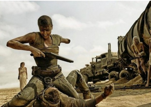 Charlize Theron one arm pic Mad Max Fury Road