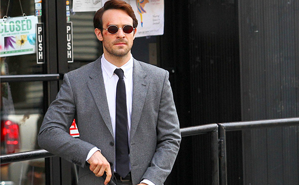 "Charlie Cox as Matt Murdock in ""Daredevil"""