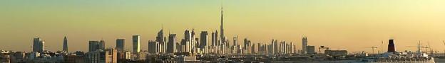 Dubai skyline photo/Jan Michael Pfeiffer, modified by JamesA on wikimedia commons