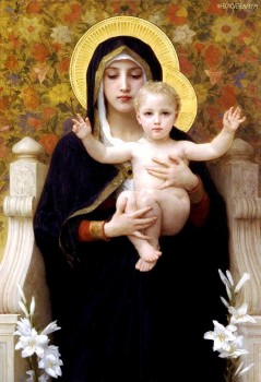 Virgin of the Lilies, painting by William-Adolphe Bouguereau, 1899