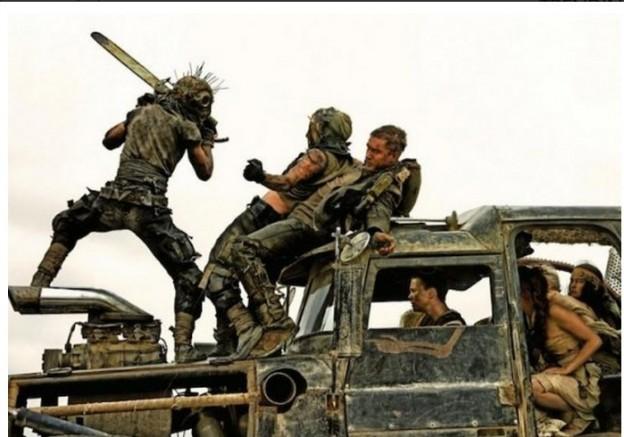 Mad Max Fury Road battle scene