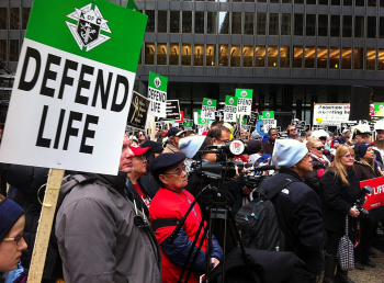 Thousands turned out for the 2015 March for Life in Chicago, IL. to credit Lori Solyom, TC Public Relations.