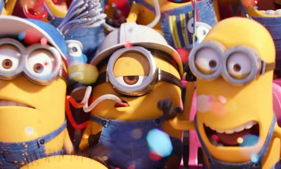 Minions Super Bowl ad party at the game