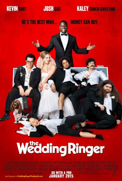 The Wedding Ringer movie poster Kevin Hart Josh Gad Kaley Cuoco