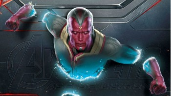 "A hint at the look of Paul Bettany as Vison in ""Avengers: Age of Ultron"""