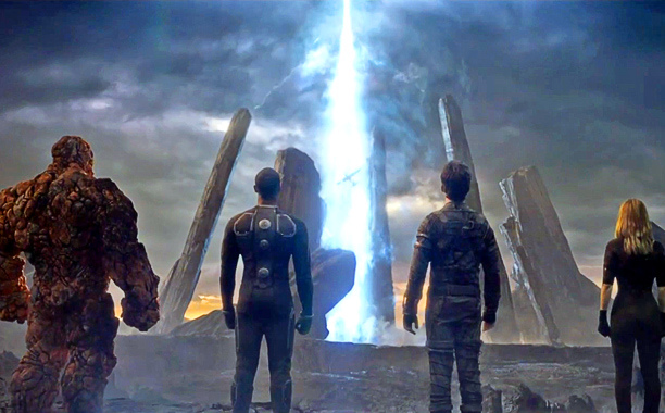 marvels-the-fantastic-four team photo starring into space