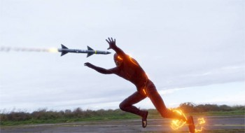 the flash dodging missile in photo