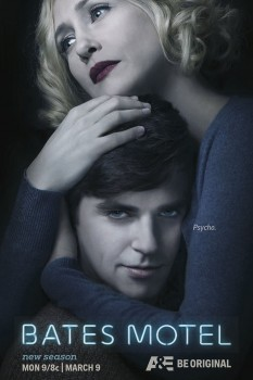 Bates Motel season 3 poster art Psycho art Freddie Highmore Vera Farmiga