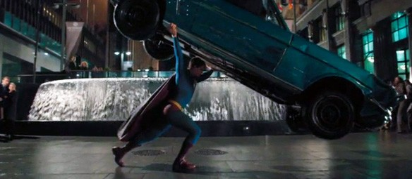 Brandon Routh as Superman in Superman Returns Action Comics #1 moment homage