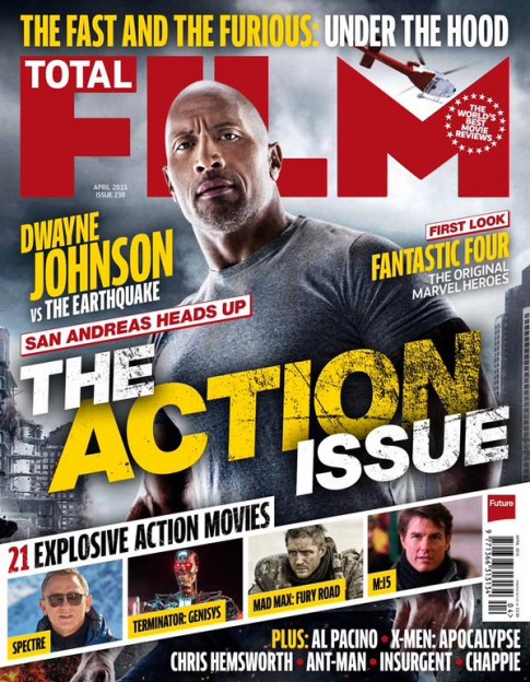 Dwayne Johnson action film Total Film mag
