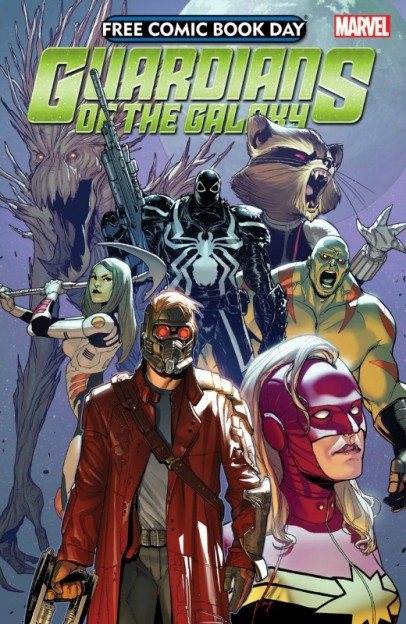 Guardians of the Galaxy free comic book day comic book cover