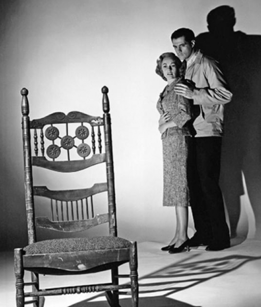 Janet Leigh and Anthony Perkins in Psycho promo photo