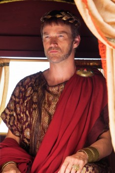 Stephen Moyer, as Pontius PIlate, approaching Jerusalem.