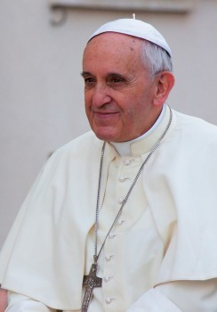 A portrait of Pope Francis taken in Vatican City on August 5, 2014.   Photo credit: Daniele Cataldi/Demotix/Corbis courtesy of Weta.org