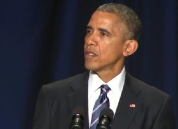 President Obama speaking at the 2015 National Prayer Breakfast