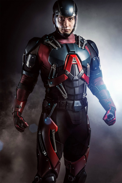 Brandon Routh as Atom on Arrow full size view costume armor