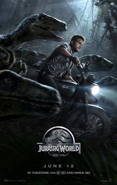 CHris Pratt raptors Jurassic World movie poster