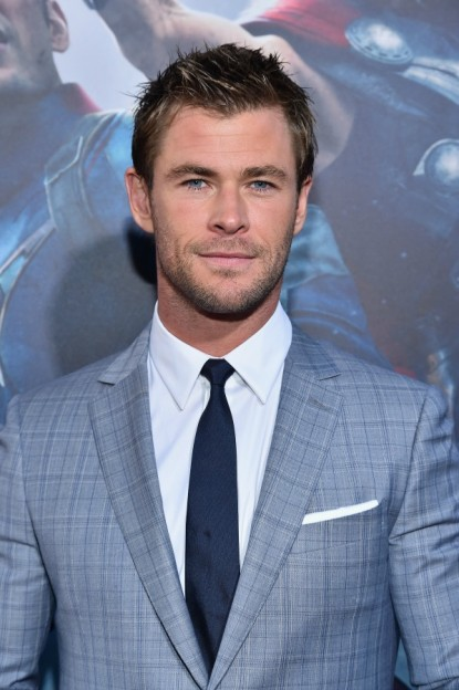 Chris Hemsworth Avengers Age of Ultron world premiere portrait grin