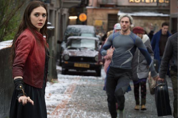 Elizabeth Olsen Aaron taylor Johnson Avengers age of ultron photo