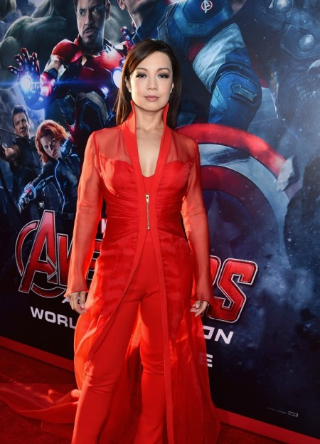 """Ming-Na Wen at the premiere of """"Avengers: Age of Ultron"""""""