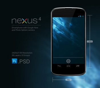 Nexus 4 smartphone with Google Now and photo sphere camera pic