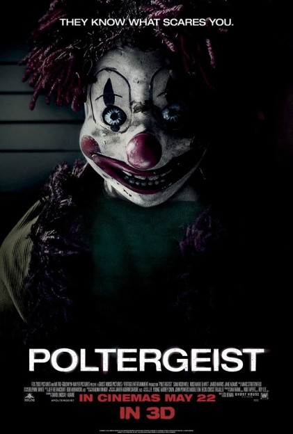 Poltergeist scary clown poster know what scare you