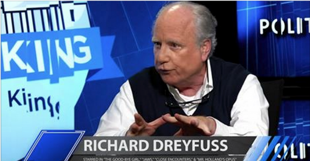 Richard Dreyfuss on Larry King Politicking civics in US