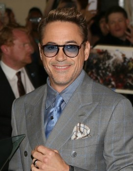"""Robert Downey Jr at the world premiere of Marvel's """"Avengers: Age Of Ultron"""" at the Dolby Theatre on April 13, 2015 in Hollywood, California."""