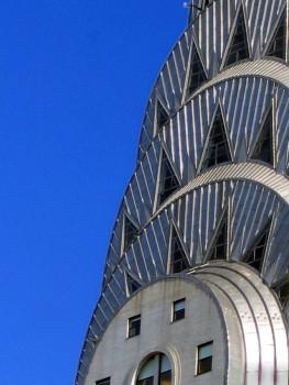 Detailed look at the Chrysler Building art deco  photo/ Liftarn via wikimedia