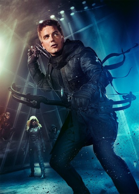 John Barrowman as Malcolm Merlyn Dark Archer Arrow season 3 poster