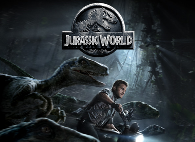 Jurassic World Banner chris Pratt Raptor army