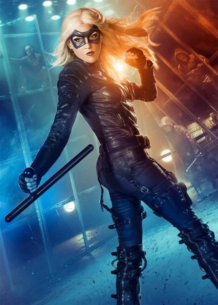 Katie Cassidy as Black Canary Arrow season 3 poster