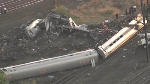 New York bound Amtrak train derailment