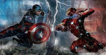 Civil War concept art Captain America Iron Man head to head