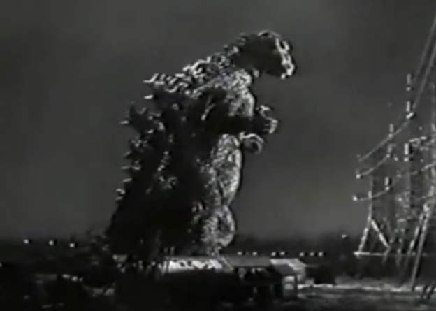 Godzilla King of the Monsters/Public domain clip/https://commons.wikimedia.org/wiki/File:Godzilla_King_of_the_Monsters_(1956)_Profile.png