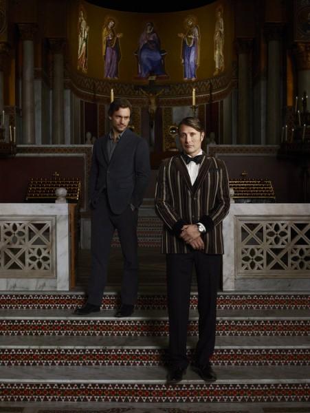 Hugh Dancy and Mads Mikkelsen Hannibal season 3 photo