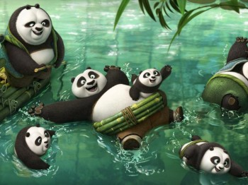 Kung-Fu-Panda-3-photo Po Jack Black and family Li dad Bryan Cranston